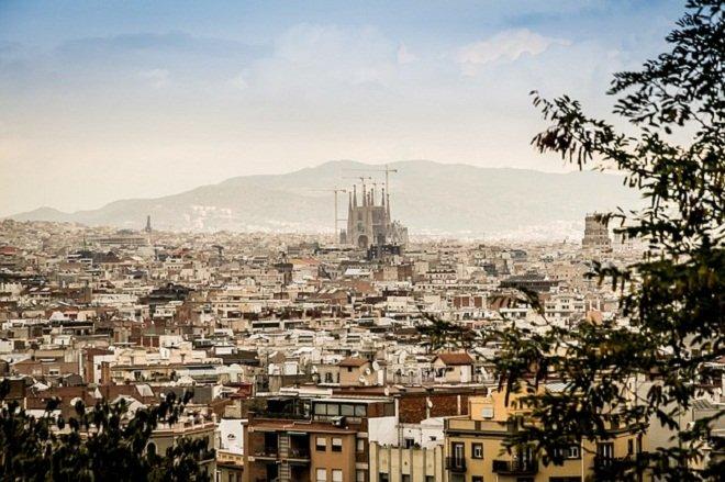 Панорама видов Барселоны