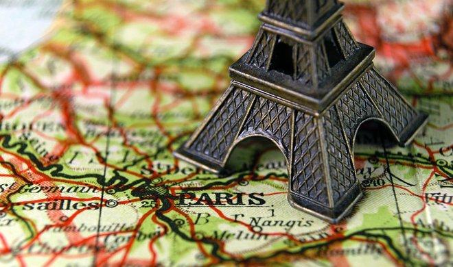 париж на карте