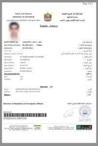 Образец электронного разрешения на въезд